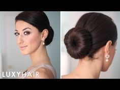 How to: Perfect Low Bun - YouTube
