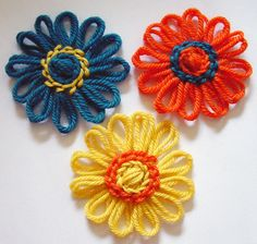 Flower Looms: Feather Stitch Rounds