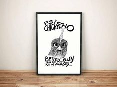 PSYCHO CHICKEN Illustration black and white funny psycho chicken crazy valentines day Have A Safe Trip, Chicken Illustration, Fabric Tote Bags, Urban City, Black And White Illustration, Affordable Art, Cool Drawings, Inktober, Printmaking