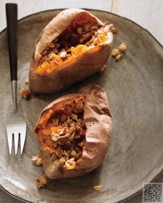 The Best #Carbs to Eat when Losing #Weight … A medium-sized sweet potato with skin included offers only 103 calories and 27g of carbs with about 5g of fiber, 37% daily value of vitamin C, as well as vitamin E, potassium, and phytochemicals like lutein, carotene, and zeaxanthin. They are fat free and increase levels of a hormone called adiponectin that regulates blood sugar and speeds up metabolism.