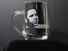 President Barack Obama, 44th President Gift, Obama Mug Gift by HaleOnGlass on Etsy https://www.etsy.com/listing/120194954/president-barack-obama-44th-president