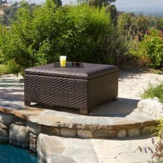 Christopher Knight Home Wicker Brown Indoor/ Outdoor Storage Ottoman | Overstock™ Shopping - Big Discounts on Christopher Knight Home Sofas, Chairs & Sectionals