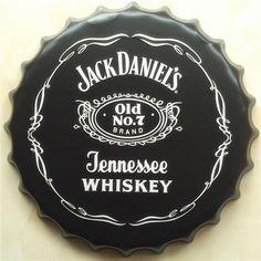 Barato 40x40 cm Decoração da Casa Do Vintage Jack Daniels Tennessee Whiskey Pintura Poster de Metal Simples Tampa de Garrafa De Cerveja Lata De Souvenirs sinais, Compro Qualidade Placas & Sinais diretamente de fornecedores da China:  nome: Rodada Copo de Cerveja do Metal tin signs  tamanho: 40X40 cm  peso: 0.4 kg  Material: metal  também existem outro