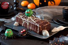 Double-Choc Sahneschnitte im #Halloween-Look und #CakePop #Spinne, #cake