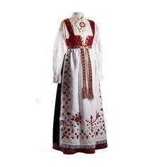 Damebunad fra Åmli| Husflidstua i Grimstad Damask, Norway, Victorian, Costumes, Roots, Scandinavian, Dresses, Fashion, Cold