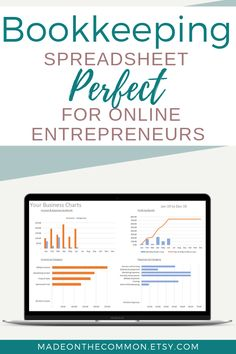 Online Business Income & Expense Spreadsheet -no tax Bookkeeping Accounting Template - Excel Small Business Spreadsheet Profit + Loss Report Small Business Bookkeeping, Small Business Accounting, Accounting Software, Sage Accounting, Business Checks, Business Tips, Online Business, Business Education, Business Planner