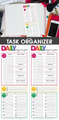 Use the free printable Daily Task Organizer to help you be more focused & get more done in less time.