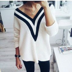 ChicNova Deep V Sweater
