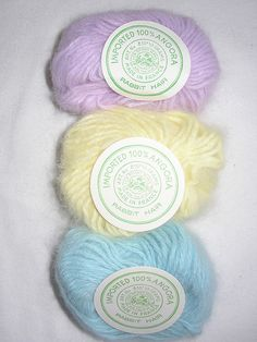 Vintage 100% angora yarn from Lion Brand :: photo by findserenityNOW, via Flickr.
