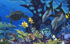 Treasures Of The Sea (Apollo) Mural - Apollo  Murals Your Way