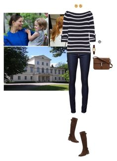 """Spending her last afternoon in Sweden at Haga Palace with Victoria and Estelle"" by hrhprincessamelia ❤ liked on Polyvore featuring Naked & Famous, Tory Burch, Sesto Meucci, Citizen, Tiffany & Co. and Gucci"