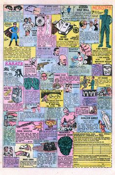 Comic book ads that always sounded better than the product really was.  lol.