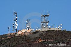 Microwave Towers And Cell Site Royalty Free Stock Photography ...