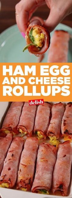 Ham, Egg and Cheese RollUps | These easy low carb and keto breakfast recipe ideas are perfect to make ahead of time, and simply grab for on the go! Meal prep can be a life saver! Eating healthy has never been so easy with these time-saving tips and tricks. Everything from casseroles to muffins! They're perfect for a ketogenic diet. Listotic.com