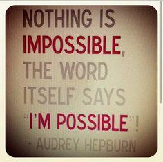 cute Audrey Hepburn (ms. pixie-cut) quote