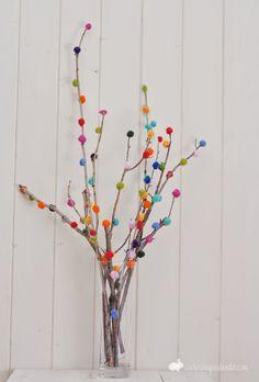 OS MELHORES ARTESANATOS: Mini árvore feita com algodão