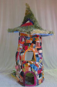 grassy dream back detail karna erickson  amazing recycled fabrics sweaters doll house. AMAZING.