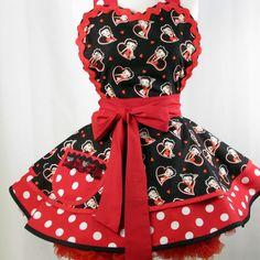 Betty Boop Hearts and Polka Dots Apron