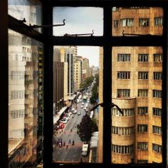 Jeppe Street from Anstey's Building. Man Made Environment, Johannesburg City, My Family History, Historical Pictures, Countries Of The World, Back In The Day, South Africa, Landscape Photography, Explore