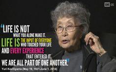 Yuri Kochiyama remains one of my heroes.