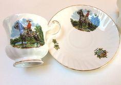 Tasses porcelaine Queens Vintage, Gendarmerie royale du Canada, tasse Souvenir du Canada, ensemble de deux, Excellent État