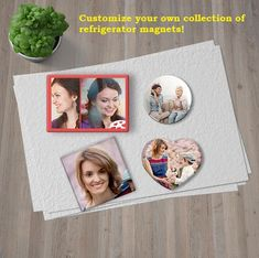 Save Off on custom photo magnets. Photo magnets are perfect as an photo gifts. Select any sizes, shapes and material to create personalized photo magnets online from CanvasChamp. Picture Magnets, Quality Photo Prints, Photo Calendar, Square Photos, Create Photo, Refrigerator Magnets, Affordable Art, Custom Photo, Tool Design