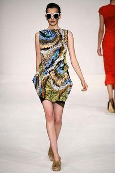 Rosie Huntington-Whiteley wearing Peter Pilotto Spring 2009 Dress.