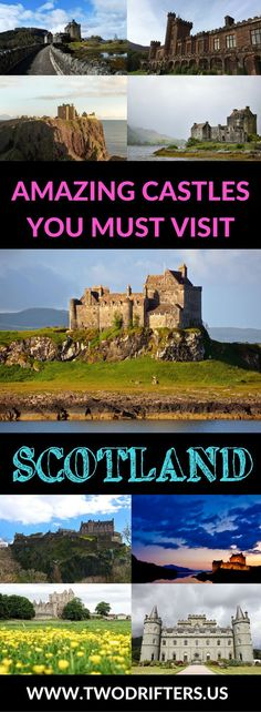 Scottish castles - Scotland is an amazing country. Filled with history, myth, and even a bit of magic. This list shares the very best castles in Scotland you truly MUST visit. #castles #scotland #travel Things to do in Scotland | Castles of Scotland | S