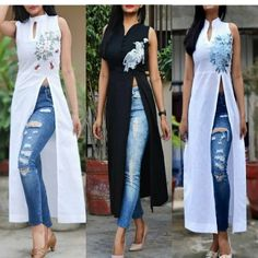 For details / order please dm or Whatsapp on . Designer Party Wear Dresses, Kurti Designs Party Wear, Indian Designer Outfits, African Fashion, Indian Fashion, Boho Fashion, Fashion Dresses, Mode Kimono, Indian Gowns Dresses