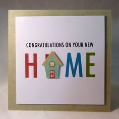 Congratulations on your new home greeting card by suzARTecreations                                                                                                                                                      More