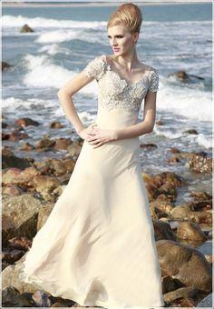 Evening Dresses :: Beaded Classic Beige Dress
