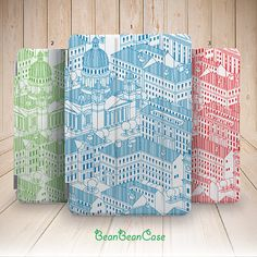 Skyline Buildings Illustration smart cover case for ipad air and ipad mini by BeanBeanCase