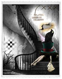 """Digital Art by *Silkku* """"Alice's nightmare"""" silkkus.blogspot.fi"""