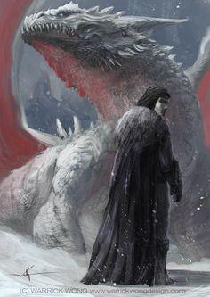 Jon Snow and the Dragon by waLek05.deviantart.com on @deviantART