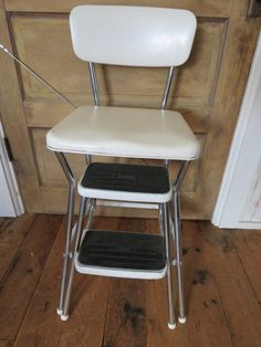 Fabulous Vintage Cosco Step Stool Chair With Step Stool Chair