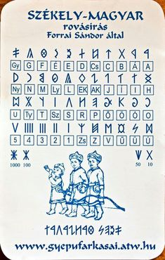 Rune Symbols, Thing 1, Hungary, Diy And Crafts, Alphabet, Old Things, Faith, Writing, Education