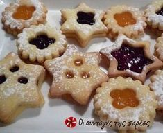 Xmas Food, Christmas Sweets, Christmas Cooking, Greek Desserts, Greek Recipes, My Favorite Food, Favorite Recipes, Cranberry Cookies, Sweets Recipes