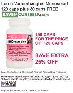 Lorna Vanderhaeghe, Menosmart Plus, 150 vcaps #BONUSBOTTLE - 120 caps plus 30 caps FREE Quantities are limited!