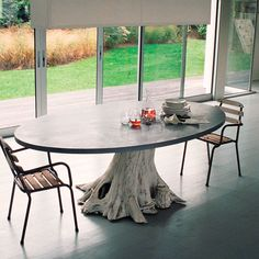 Mineral & Might dining table handmade in Pennsylvania by the artisans of Groundwork, by Anthropologie.