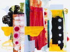 "She Had the Fight Inside, 2015, 36""x48""x2"", acrylic, Dura-Lar on cradled panel, copyright Mary Zeran"