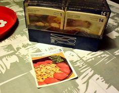 Blogissa uutta: Retrokeittiö. Ruokakortit ja laatikko #retrokeittiö #retroruoka #ruokakortit #ruokaohjeet #reseptit