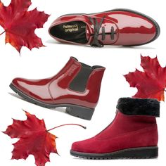 red water resistant suede and allweather patent Red Water, Chelsea Boots, Footwear, Bags, Clothes, Shoes, Design, Fashion, Handbags