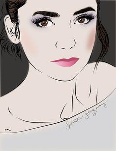 Vector Portrait Nina Dobrev by Shantal Stickney