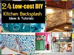 frugal aint cheap: kitchen backsplash (great for renters too