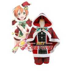 Winter LoveLive! Love Live  Rin Hoshizora Christmas Uniform Halloween Cosplay Costume For Women Dress Free Shipping #Affiliate