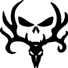 Bone Collector Skull Vinyl Decal Car Truck Window Gun Safe Case Deer Hunting Sticker Pick Size and Silhouette Projects, Silhouette Design, Silhouette Cameo, Cricut Vinyl, Vinyl Decals, Car Decals, Window Decals, Deer Skeleton, Deer Skulls