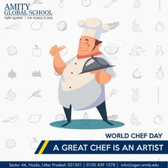Celebrating #World Chefs Day 2015 October 20th is #World Chefs Day #International Chefs Day. This #special day we want every child to be #Healthy and become a good chef and also likes to promote #healthy eating. All of us here at #Amity Global School appreciate each and every chef around the #globe! #HAPPY CHEFS DAY