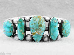 turquoise row bracelet