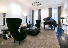 Stylish period house in Mayfair London, on the market Egg Chair, Period, Home And Garden, Lounge, Real Estate, London, Marketing, Mirror, Bedroom