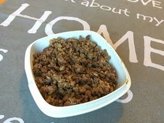 """Härkis is a finnish protein alternative, the commercial product effectively translates to """"pulled broad bean"""". This is the DIY version. Dog Food Recipes, Vegetarian Recipes, Seitan, Vegan Baking, Spicy, Protein, Good Food, Beans, Food And Drink"""